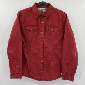 Carhartt Flannel Lined Snap Front Long Sleeve